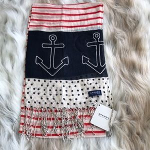 🛍5/$20🛍 Sperry Red White & Blue Nautical Scarf